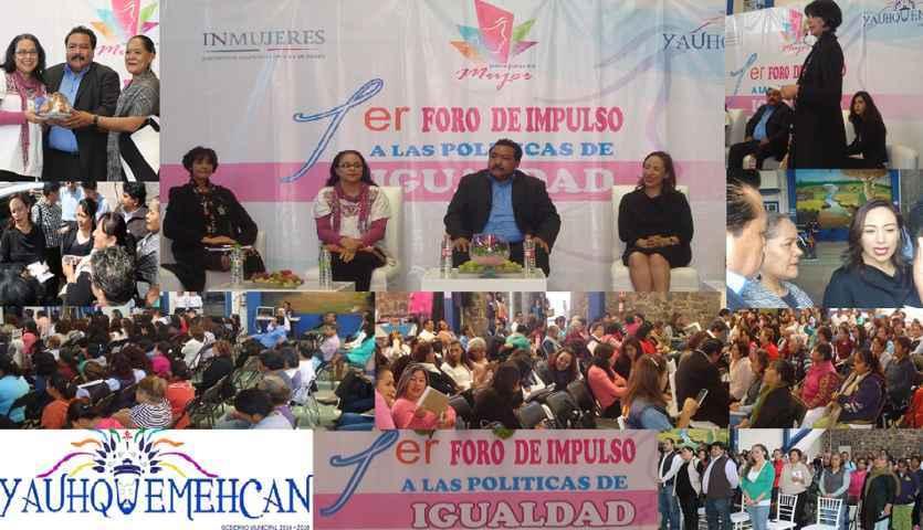 """En Yauhquemehcan se realiza el """"Primer Foro de Equidad y Género"""""""