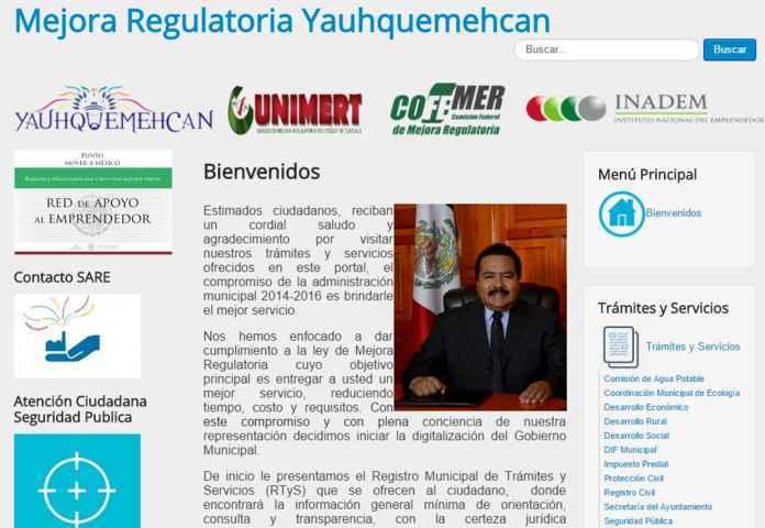 Yauhquemehcan integra página WEB de trámites y servicios