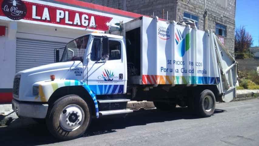Recolecta en Calpulalpan 30% más basura que en 2014