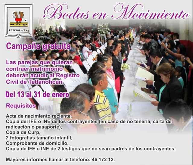 Invita Tetlanohcan a participar en Bodas en Movimiento