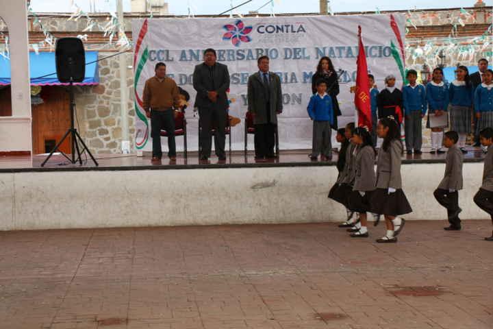 Conmemoran el CCL aniversario del natalicio de José María Morelos en Contla