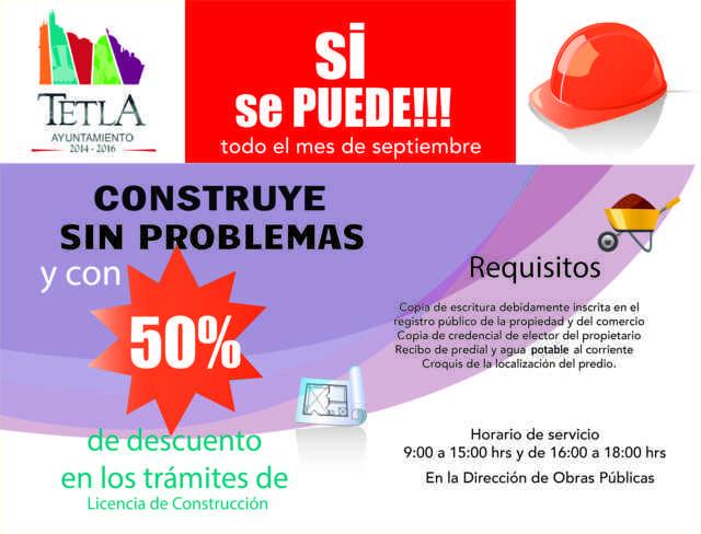 """Ayuntamiento de Tetla lanza la campaña """"Construye Sin Problemas"""""""