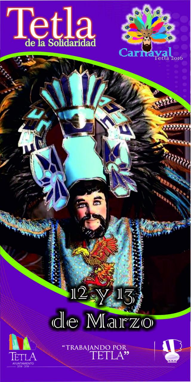 Se llevara a cabo tradicional carnaval 2016 en Tetla