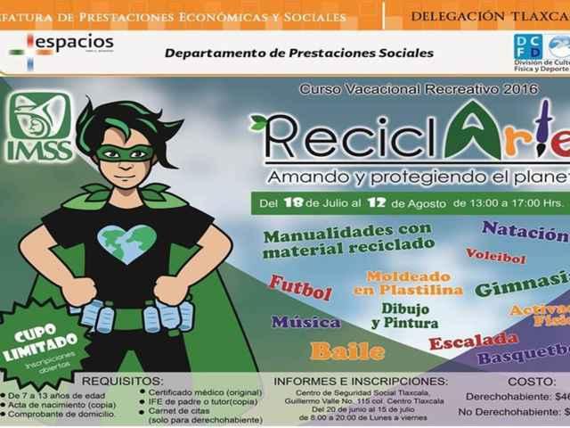 Abre IMSS Tlaxcala inscripciones para curso vacacional