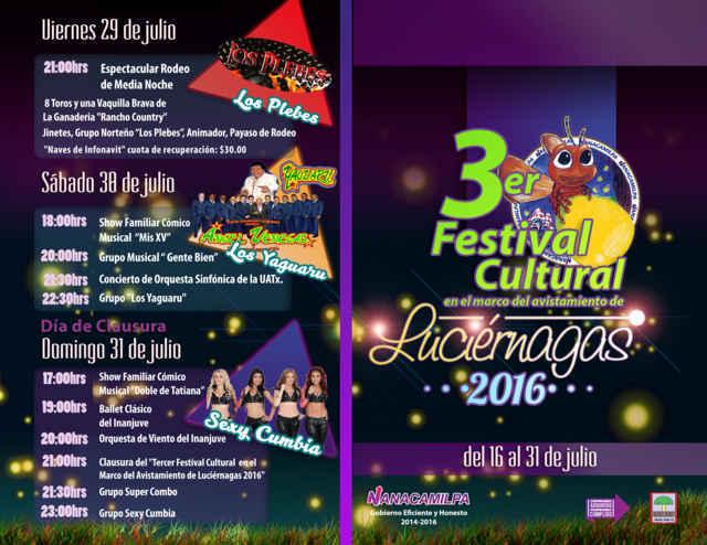 """Inició """"Tercer Festival de Luciérnagas 2016"""" en Nanacamilpa"""