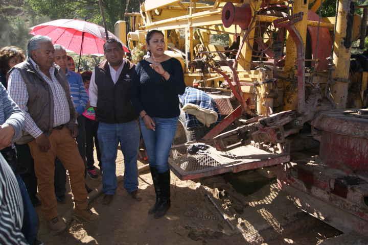Perforan de nuevo pozo de agua en Nanacamilpa