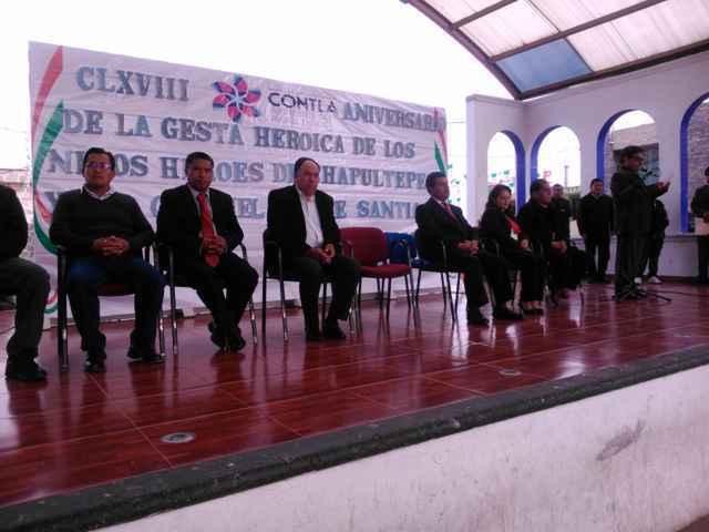 Contla conmemora a los Niños Héroes de Chapultepec