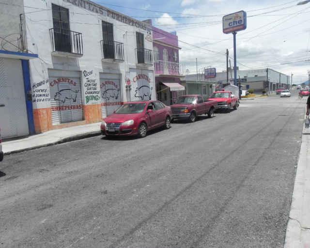 Entrega Ayuntamiento de Huamantla obra de calle Allende