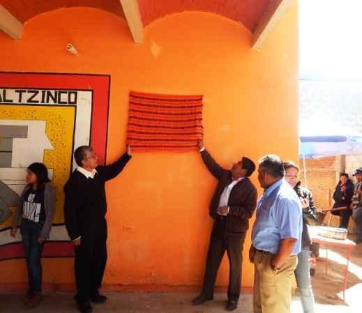 Benefició a Xalcaltzinco techumbre gestionada por E. Algredo