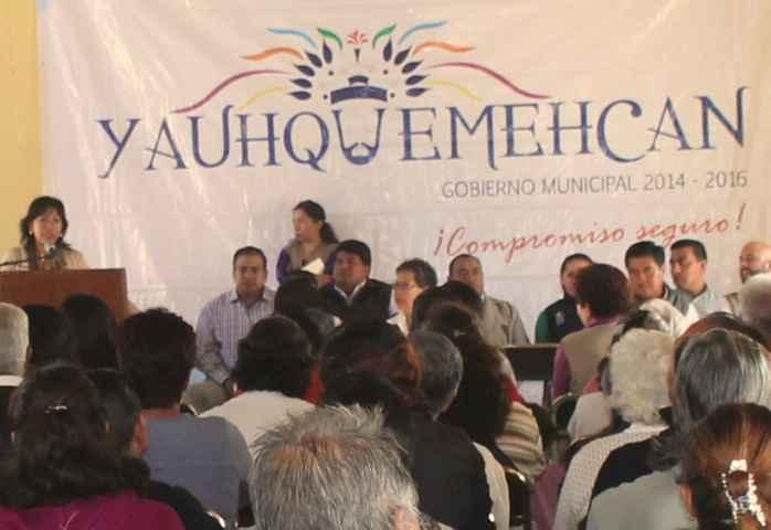 Yauhquemehcan realiza obras con recurso federal