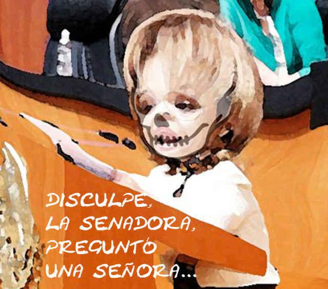 Llegó la calaca al Senado, y preguntó por Lorena...