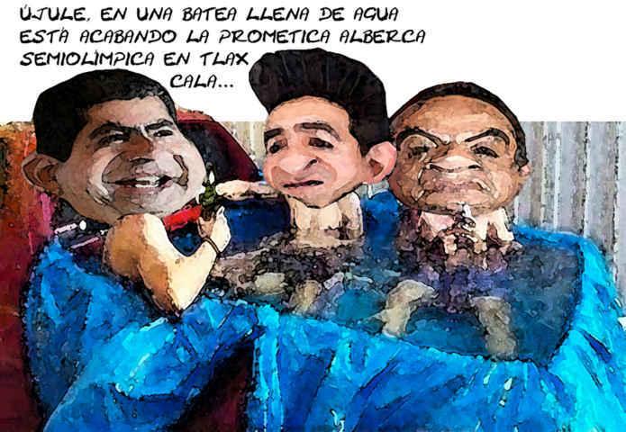 ¡Fraude a la vista!, dicen los malpensados al ver la alberca semiolímpica de Tlaxcala...