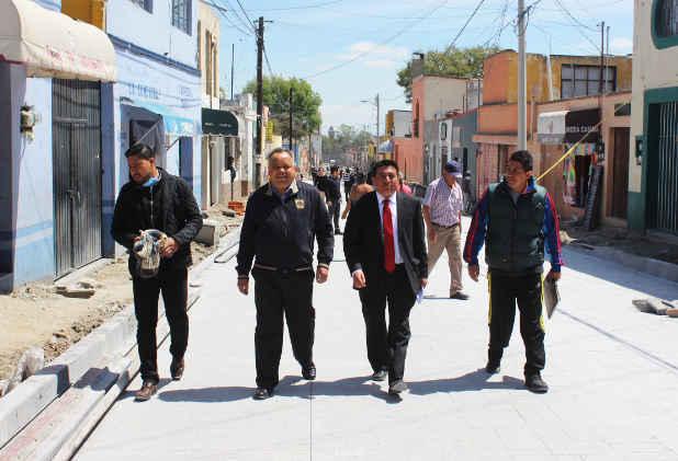 Supervisa AAL avances de la obra de la Avenida Hidalgo