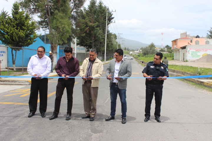 Inauguran acciones  en comunidad de Huamantla