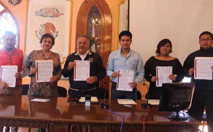 Signan convenio Ayuntamiento de Huamantla y la COEPRIST