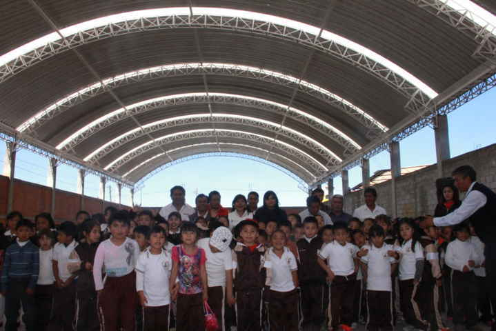 Inauguran techumbre con programa 3 x 1 para migrantes