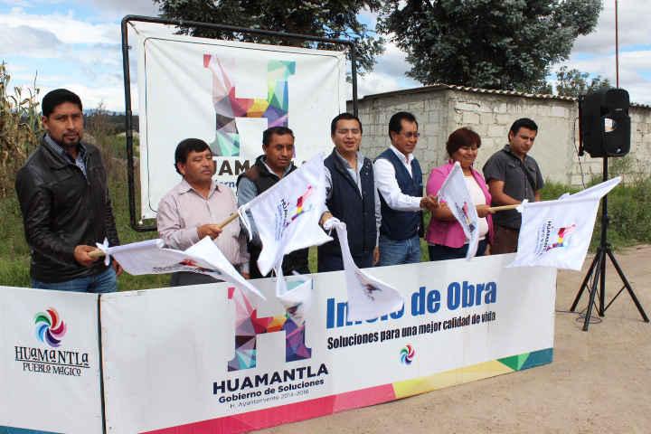 Inicia Ayuntamiento obras en Comunidad de Huamantla