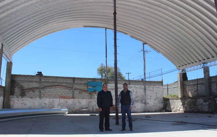 Supervisa alcalde de Huamantla avances de techumbre