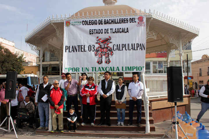 """Calpulalpan participa activamente en Programa; """"Por un Tlaxcala Limpio"""""""