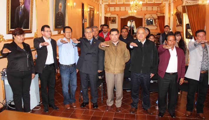 Toma protesta  el consejo Ciudadano de Seguridad Pública Municipal de Huamantla
