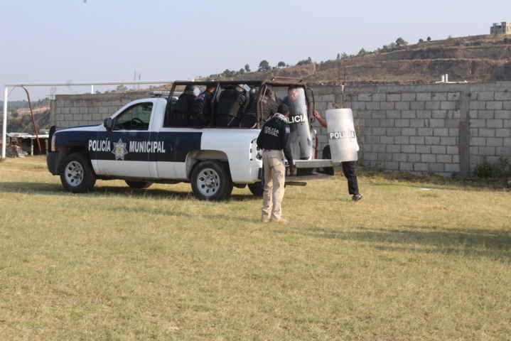 Policía de Tepeyanco son capacitados en técnicas antidisturbios