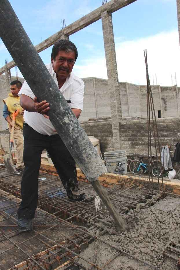 Avanzan dentro del tiempo estipulado los trabajos del SESA de Xaltipan, en Contla