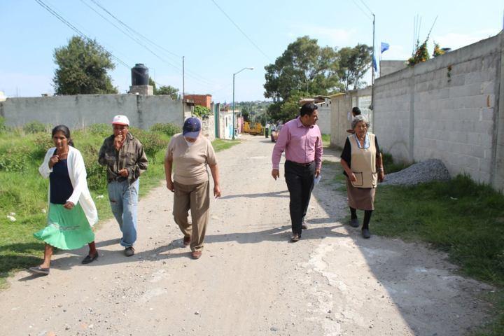 Vecinos de la calle Zapata de Tepetitla, será beneficiada con diferentes obras