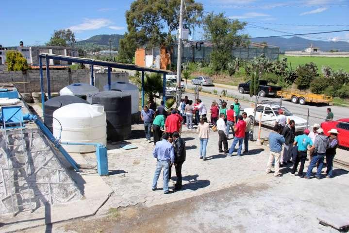 Equipan centro de hipoclorito de Sodio en Calpulalpan