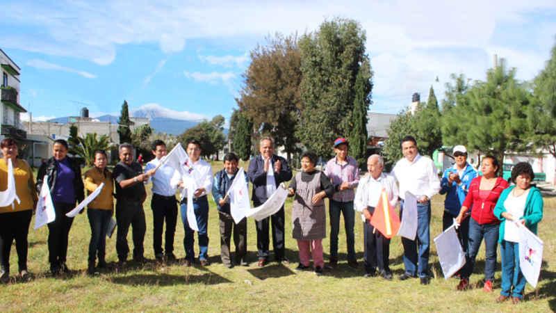 Más obras en espacios públicos en beneficio de los Huamantlecos