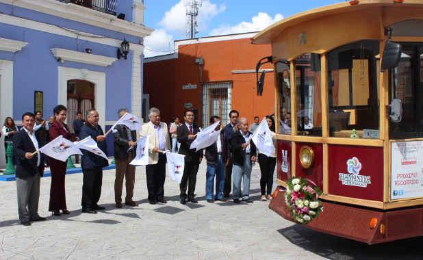 Inicia actividades Tranvía Turístico en Huamantla