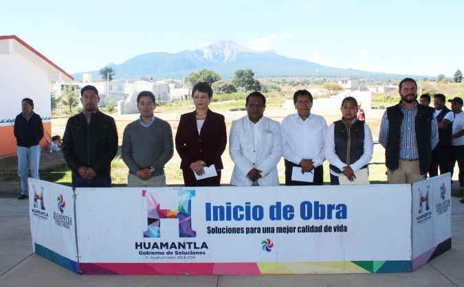 Inician construcción de comedor escolar en comunidad de Huamantla
