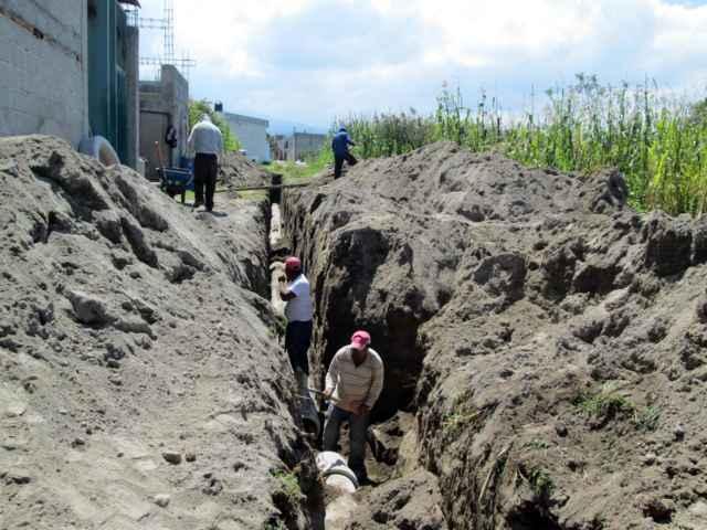 Invierte Tetlanohcan más de 2.7 mdp en drenaje sanitario
