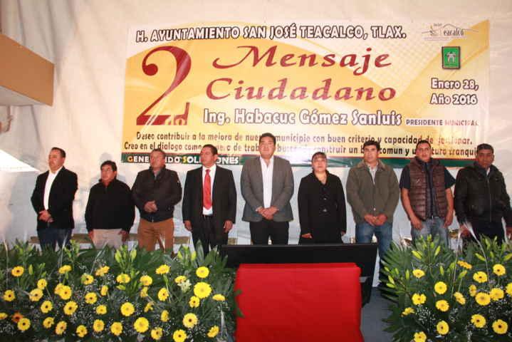 Gómez Sanluis presentó logros y metas en su 2do informe