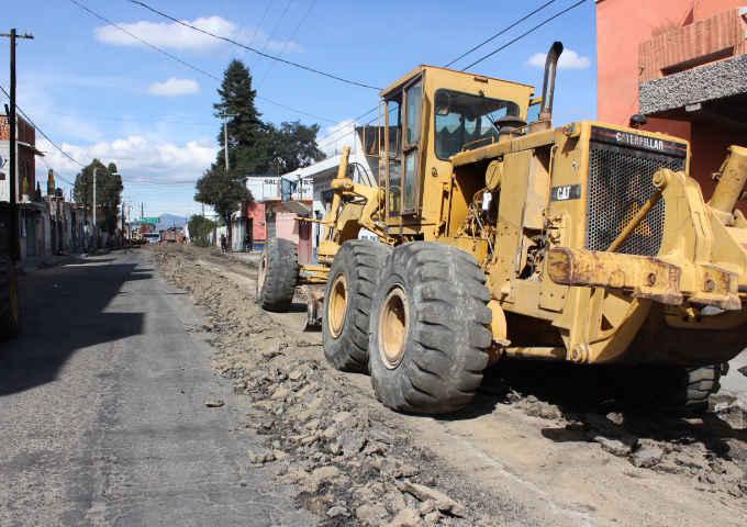 Municipio de Huamantla invierte 3MDP en avenida principal