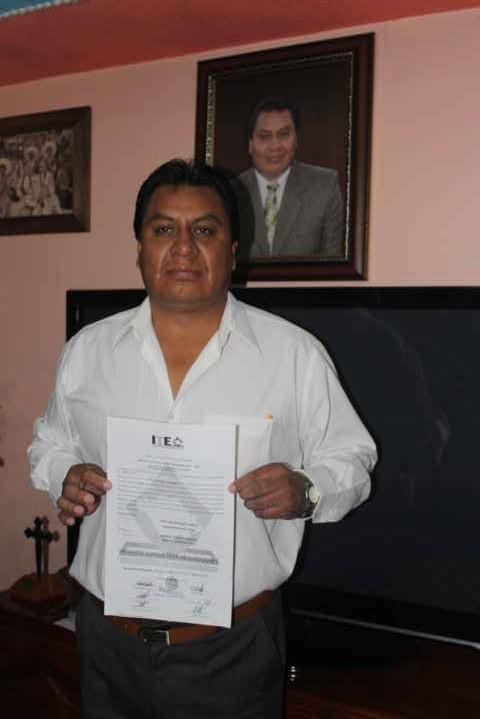 Ciro Meneses presidente electo a la alcaldía de Zacualpan