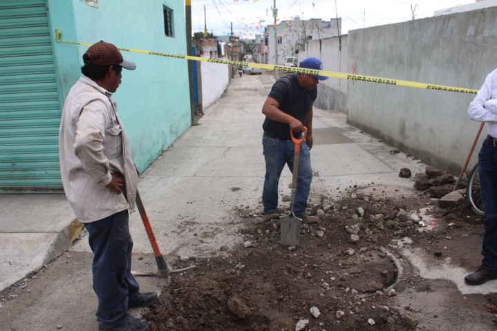 Estamos rehabilitando la red de agua potable y drenaje: alcalde