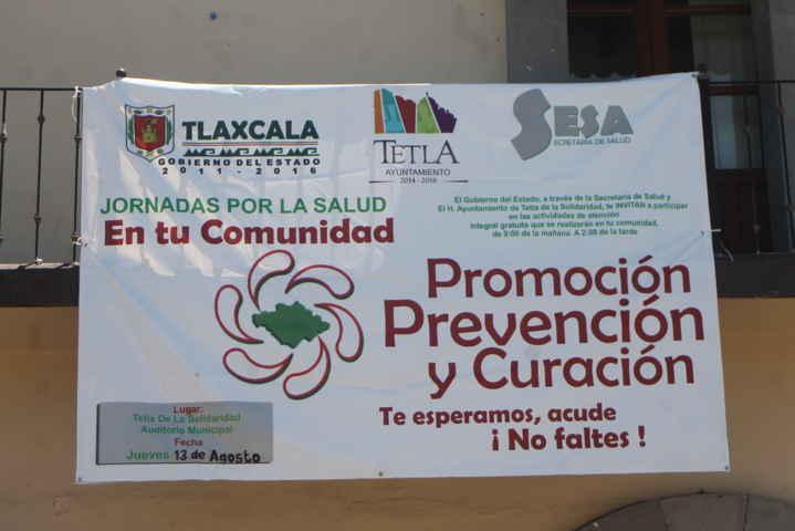Llega a Tetla las Jornadas de la Salud en tu Comunidad