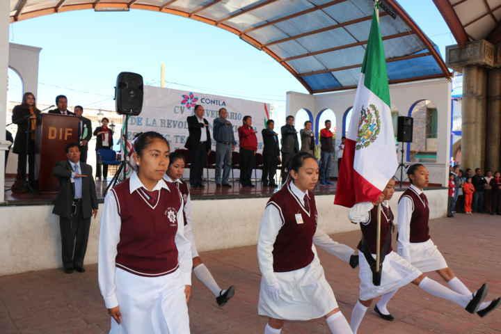 Conmemoran en Contla, el inicio de la Revolución Mexicana