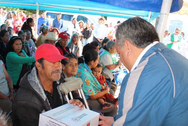 Realiza DIF Huamantla entrega de despensas