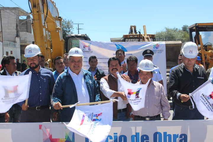 Inicia Ayuntamiento de Huamantla importante obra en Blv. Yancuitlapan