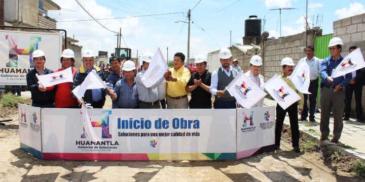 Continúa la realización de obras en Huamantla