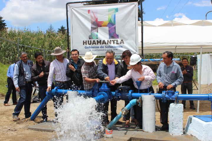 Entrega JAAL pozo equipado para agua potable en comunidad de Huamantla