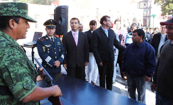 Inicia en Huamantla Campaña de Canje de Armas