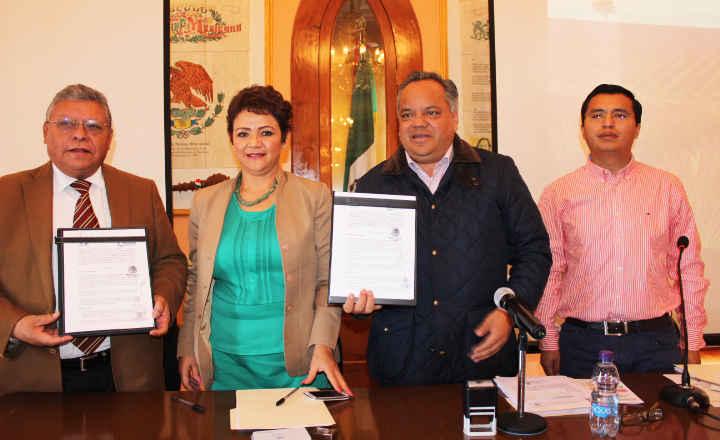 Ayuntamiento de Huamantla y la CEAM signan convenio de colaboración