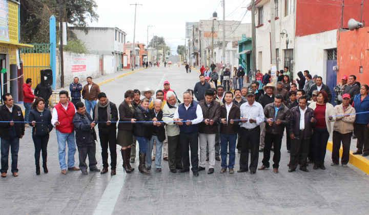 Realiza Ayto. de Huamantla entrega de obra de Calle Juárez