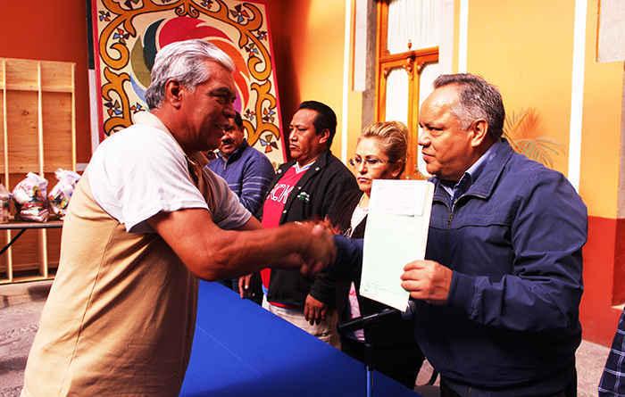Ayto. de Huamantla entrega despensas al Sindicato 7 de Mayo