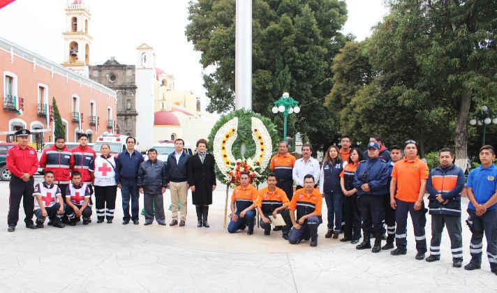 Conmemora Huamantla  el día Nacional de Protección Civil