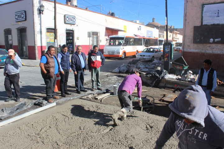 Supervisa JAAL avances de obra en Calle Zaragoza