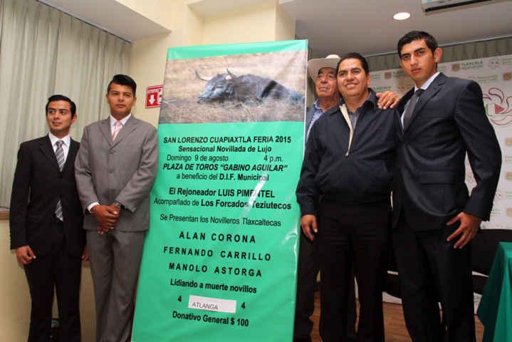 Presenta ITDT cartel taurino novilleril de la Feria Cuapiaxtla 2015