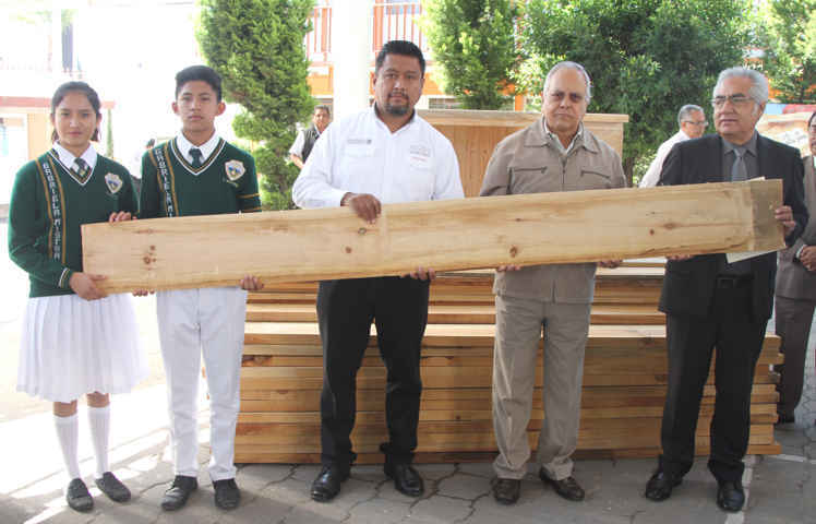 Se usará madera decomisada para fabricar mobiliario escolar